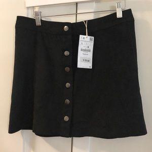NWT Zara suede button down miniskirt